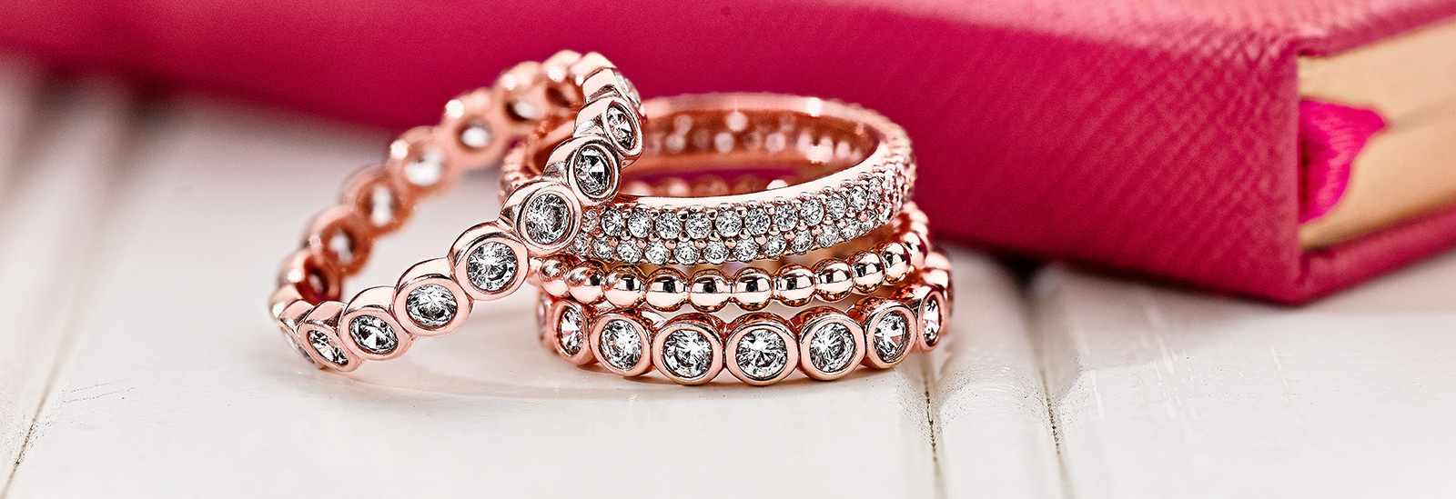 Pandora Rose Entwined With Clear Cz Ring