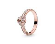 Sparkling Love Knot Ring - 180997CZ